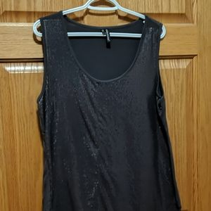 Maurices Gray Sequin Tank